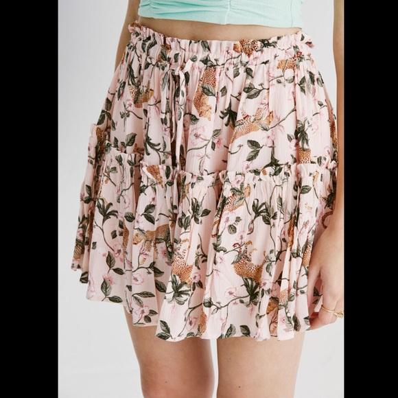NWT Minkpink Sz L Leopard Print Mini Skirt